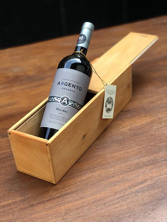 Caja madera individual Argento